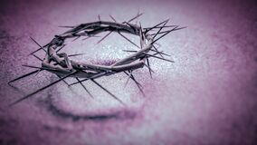 Free Lent Season,Holy Week And Good Friday Concepts - The Image Crown Of Thorns In Purple Vintage Background Stock Photos - 172328133