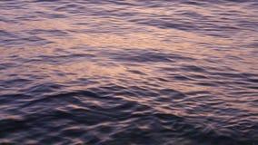 Lentamente ondas de rolamento bonitas nos raios do por do sol filme