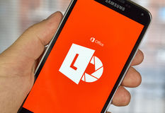 Lente app móvil de Microsoft Office Imagen de archivo
