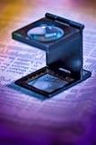 Lente d'ingrandimento Fotografia Stock Libera da Diritti