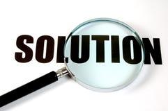 Lente d'ingrandimento - soluzione Immagine Stock Libera da Diritti