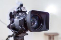 A lente da câmara de televisão Fotografia de Stock
