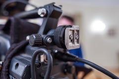A lente da câmara de televisão Imagem de Stock Royalty Free