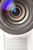 Lente da câmara de vídeo do close up fotos de stock royalty free