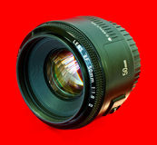 lente de cámara de 50m m Imagen de archivo
