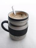 Lente de cámara de Coffe Imagen de archivo libre de regalías