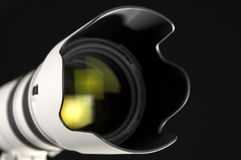 Lente de cámara en perspectiva imagenes de archivo