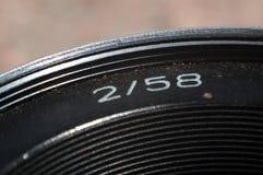 Lente de cámara refleja del vintage Fotos de archivo libres de regalías
