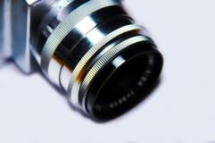 Lente de cámara vieja de la foto Fotografía de archivo