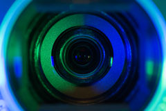 Lente de câmara de vídeo Fotos de Stock