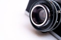 Lente de câmera do vintage imagens de stock