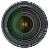 Lente de câmera isolada no branco imagem de stock