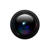 Lente de câmera no fundo branco Vetor Fotos de Stock Royalty Free