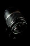 Lente de câmera preta Fotografia de Stock Royalty Free