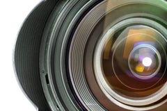 Lente de câmera profissional da foto de Digitas Foto de Stock