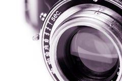 Lente de câmera retro fotografia de stock