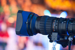 Lente de câmara de vídeo Fotografia de Stock Royalty Free