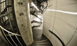 Lente de fisheye granangular tirada de la construcción metálica Foto de archivo libre de regalías