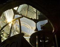 Lente de Fresnel - farol de Pensacola Imagens de Stock