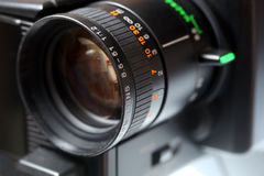 Lente de la cámara de vídeo Fotografía de archivo