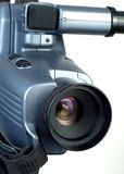 Lente de la cámara de vídeo que señala a los 2 derechos Foto de archivo