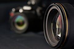 Lente de la foto en cámara borrosa fotos de archivo