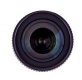 Lente de la foto en fondo aislado blanco Imagen de archivo