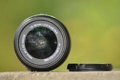 Lente de Nikon 18-55 milímetro foto de archivo libre de regalías