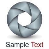 Lente dell'estratto di logo 3D Fotografie Stock