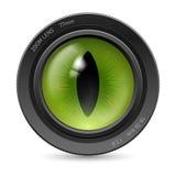 Lente dell'icona della macchina fotografica Immagini Stock