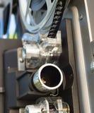 Lente della bobina di film del proiettore di film dell'annata 8mm immagine stock libera da diritti