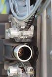 Lente della bobina di film del proiettore di film dell'annata 8mm fotografia stock libera da diritti