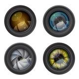 Lente della foto della macchina fotografica Fotografie Stock