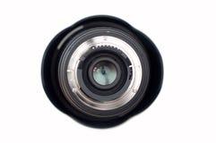 Lente fotográfica aislada en blanco Imágenes de archivo libres de regalías