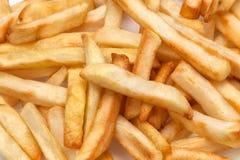 Lente macra del uso de las patatas fritas closeup Fotografía de archivo libre de regalías