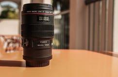 Lente macro de Canon foto de stock