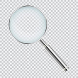 Lente metallica realistica su fondo trasparente Immagini Stock