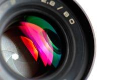 Lente profesional de la foto Fotografía de archivo