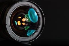 Lente profissional da foto no fundo escuro Imagem de Stock Royalty Free