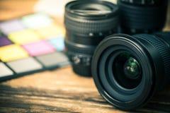 Lente profissional da fotografia digital foto de stock