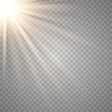 Lente transparente del special de la luz del sol del vector ilustración del vector