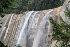 Lentedalingen bij het Nationale Park van Yosemite in Californië stock foto