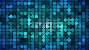 Lentejuela azul Dots Wall Background Loop stock de ilustración