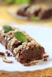 Lenten Almond Cake. Kwarezimal - Maltese lenten cookies sprinkled with chopped nuts Royalty Free Stock Photography