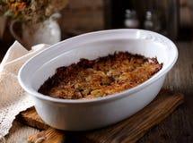Lenten potatiseldfast form Potatis-Kugeleldfast form Judisk kokkonst arkivbilder