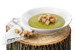 Lenten Suppe der grünen Erbse Lizenzfreies Stockbild