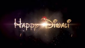 Lentern in sky - Happy Diwali stock video