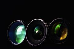Lentes da fotografia Fotografia de Stock