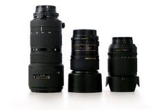 Lentes de câmera Foto de Stock
