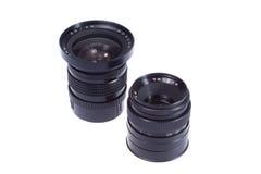 lentes de câmera do Médio-formato Foto de Stock Royalty Free